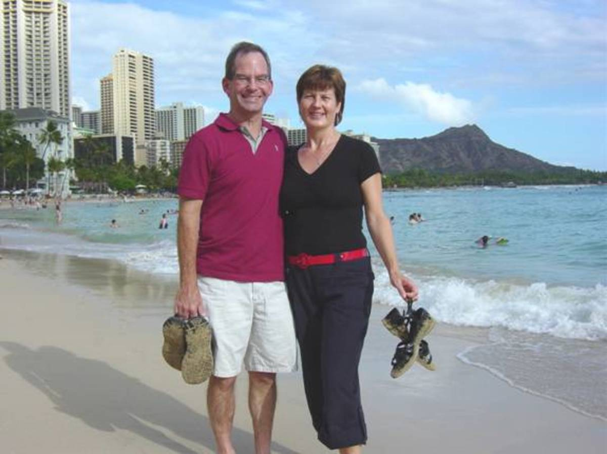 25th Wedding Anniversary at Waikiki Beach, Hawaii