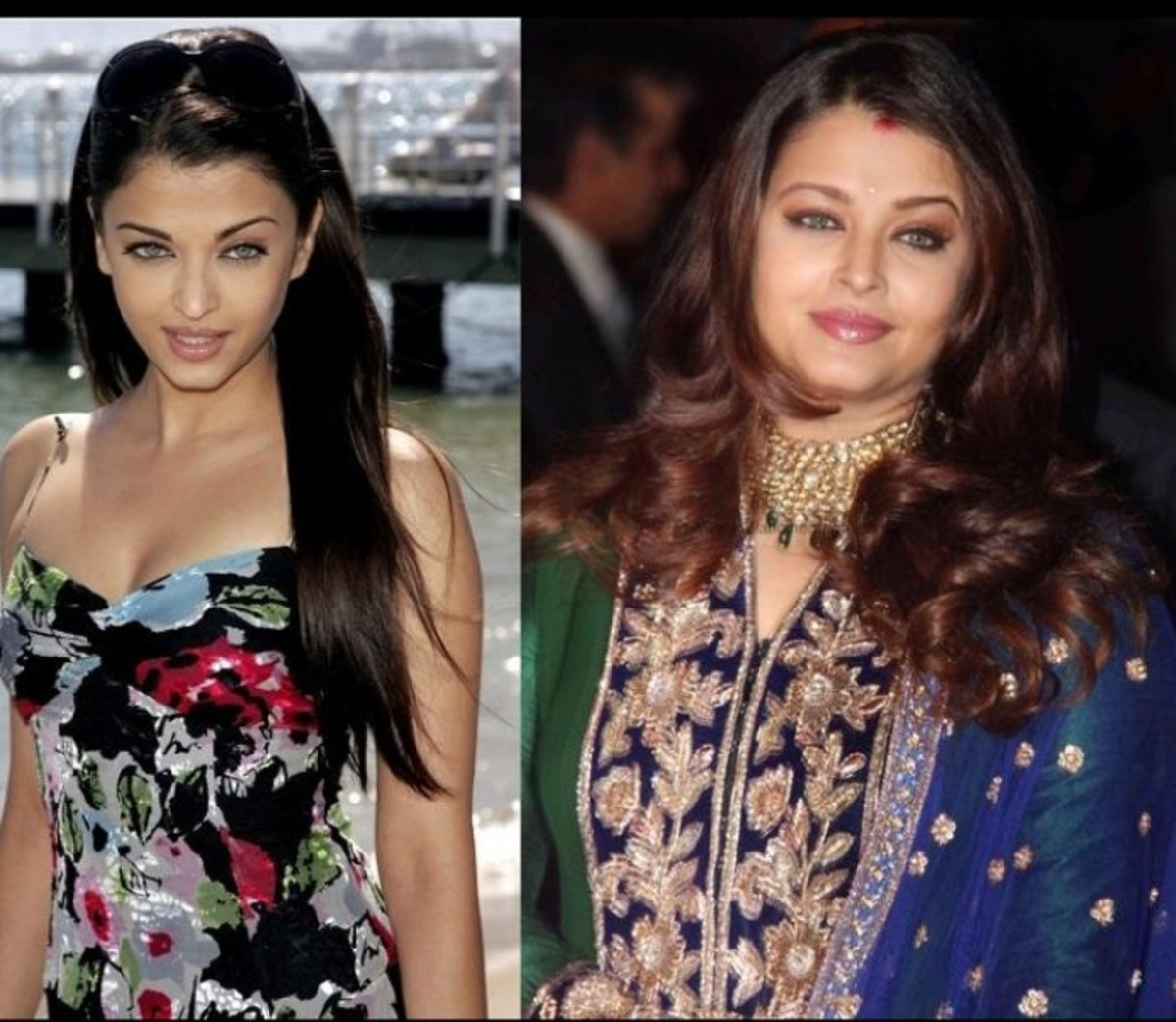 Aishwarya Rai, before and after marriage picture