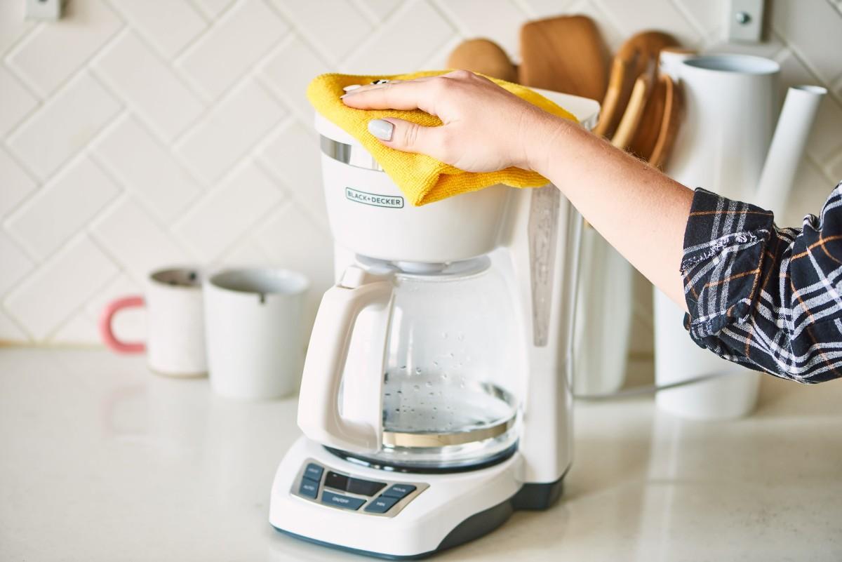 Clean a coffe machine