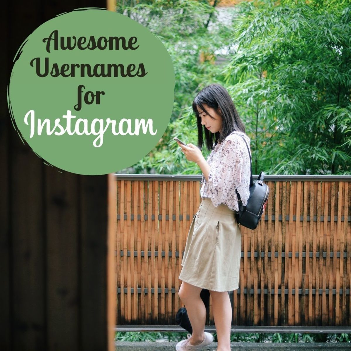 Pick a username that describes your personality and the types of photos you will be sharing on Instagram.