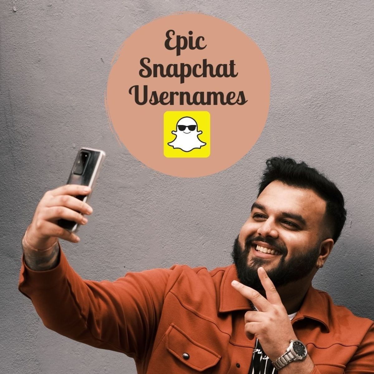 Pick a fun, interesting name for your Snapchat profile, or come up with a variant of your name—whatever suits you!