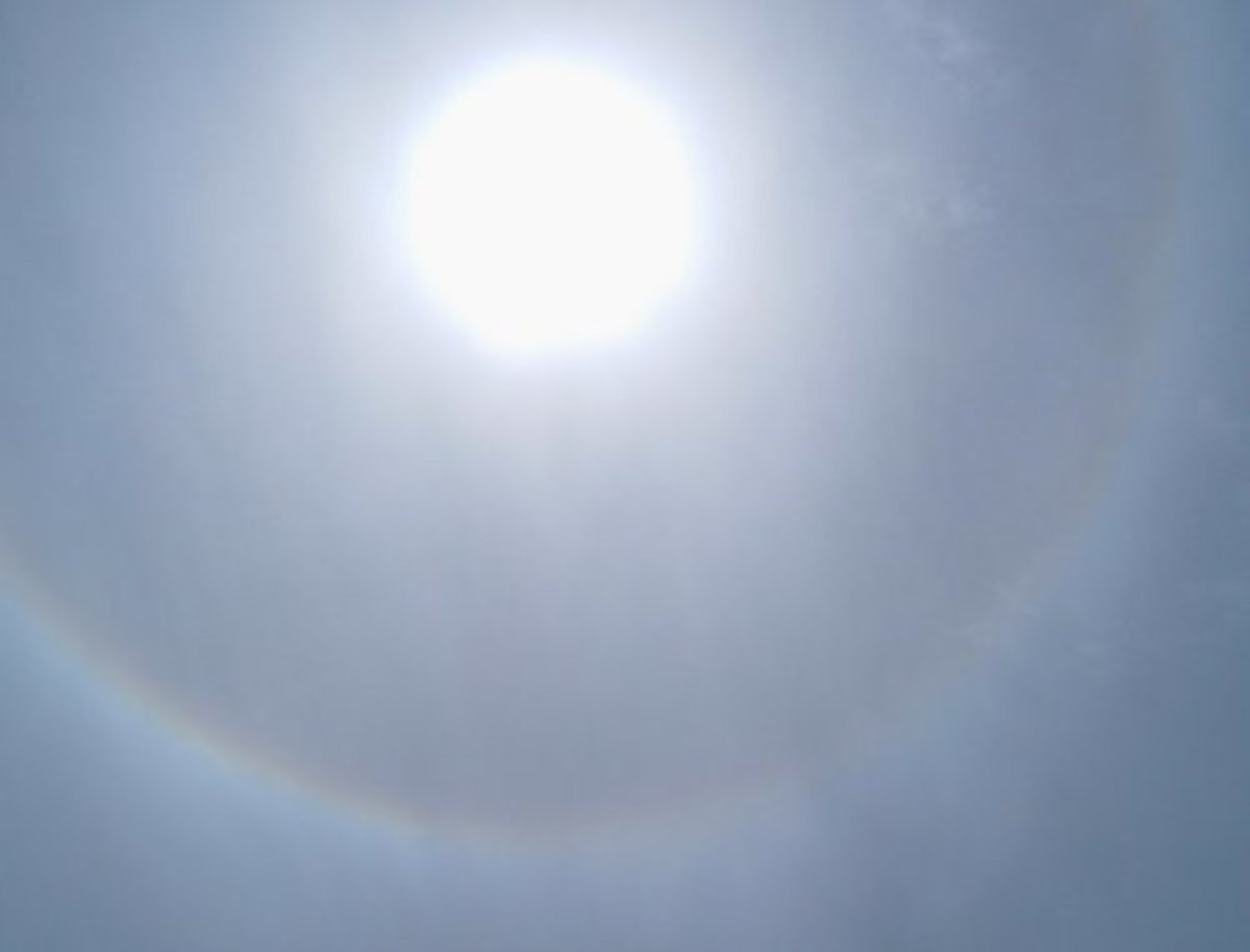 Sun halo in Tenerife