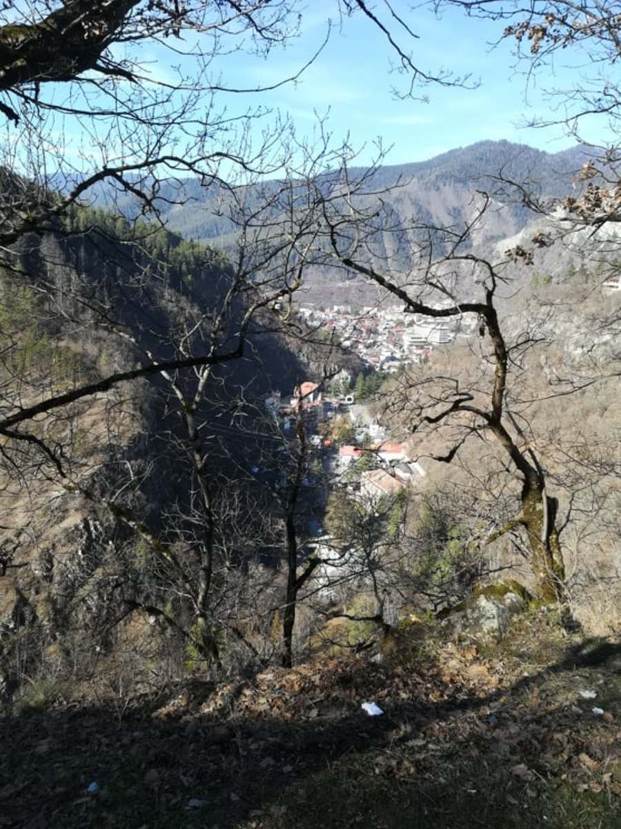 The view from the top of Borjomi Plateau