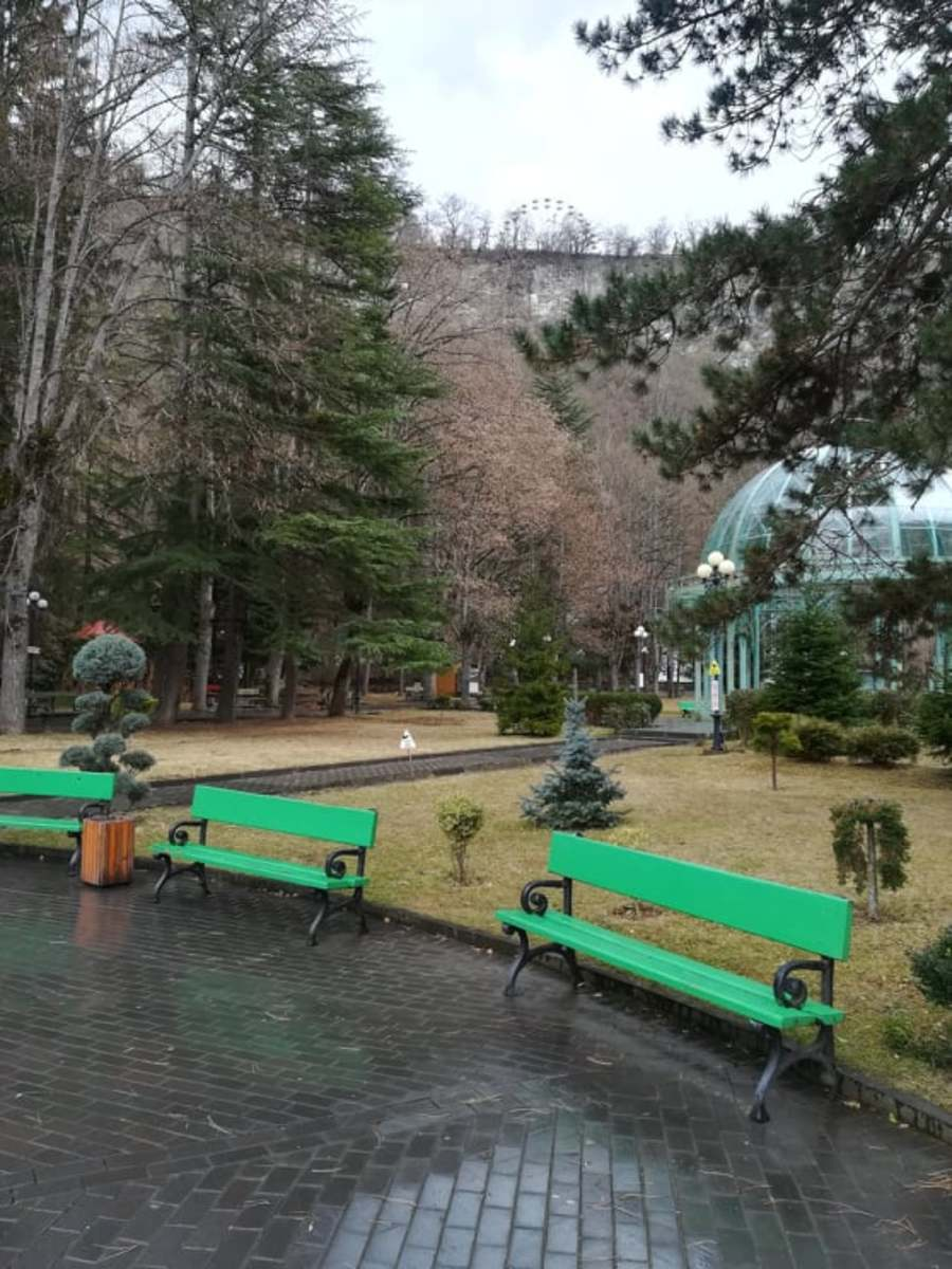 Borjomi Central Park and the Plateau above