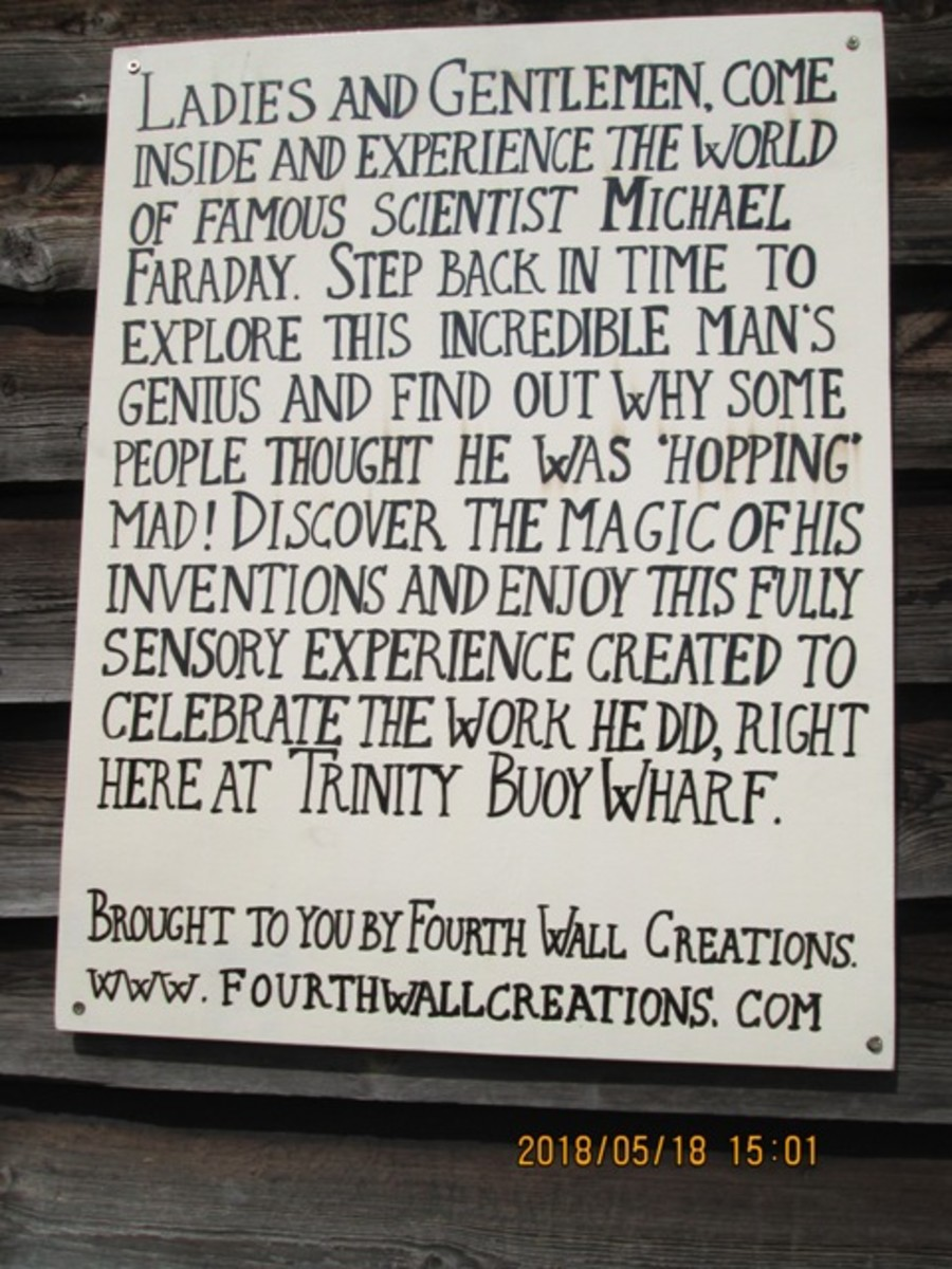 A reminder of Mr Faraday's good works. It might well be his epitaph, it was certainly a great deal of his life's work