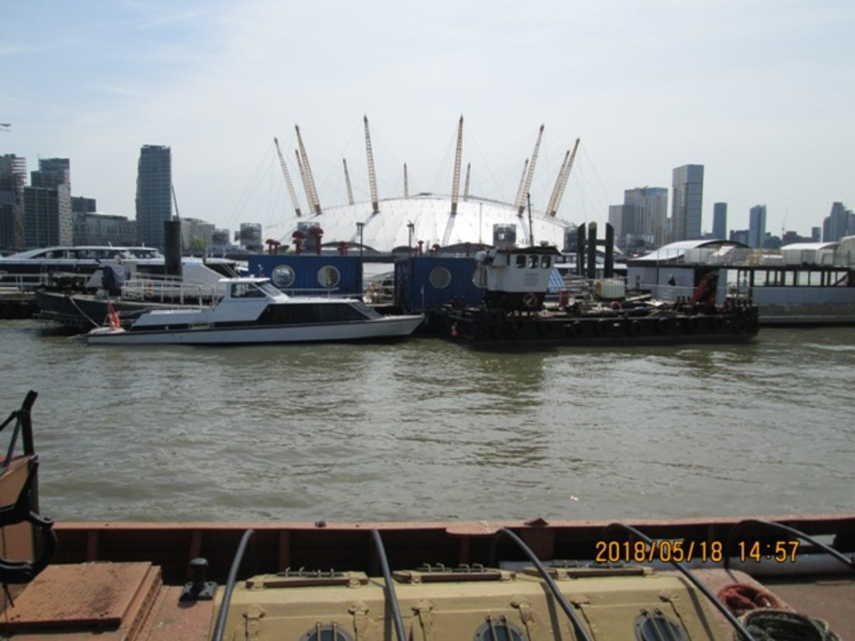 ... And from Trinity Buoy Wharf. A scene of commerce - and entertainment beyond