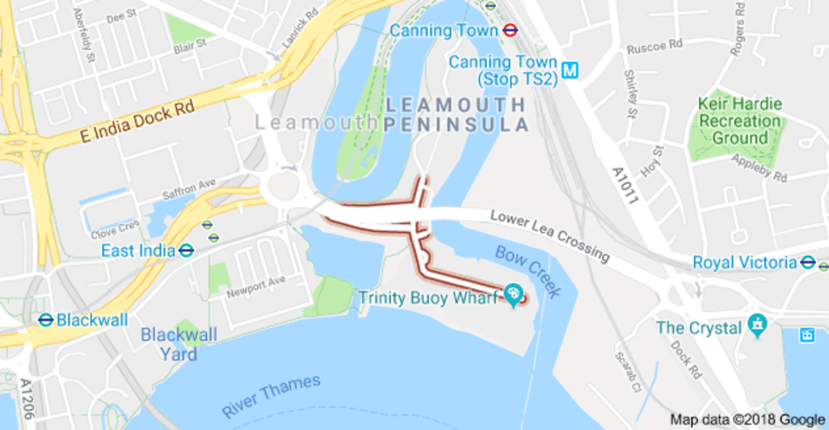 How the land lies - Leamouth and London City Island