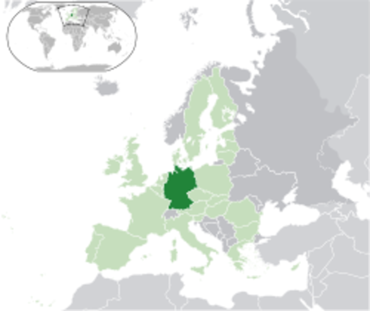 Map showing Germany