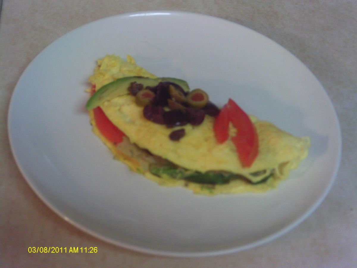 Egg Omelette:  Using Egg Beaters for a Healthy Mediterranean Recipe