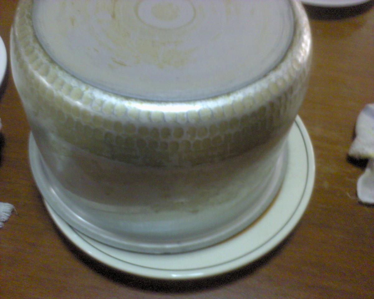 Flip the rice cooker pot upside down