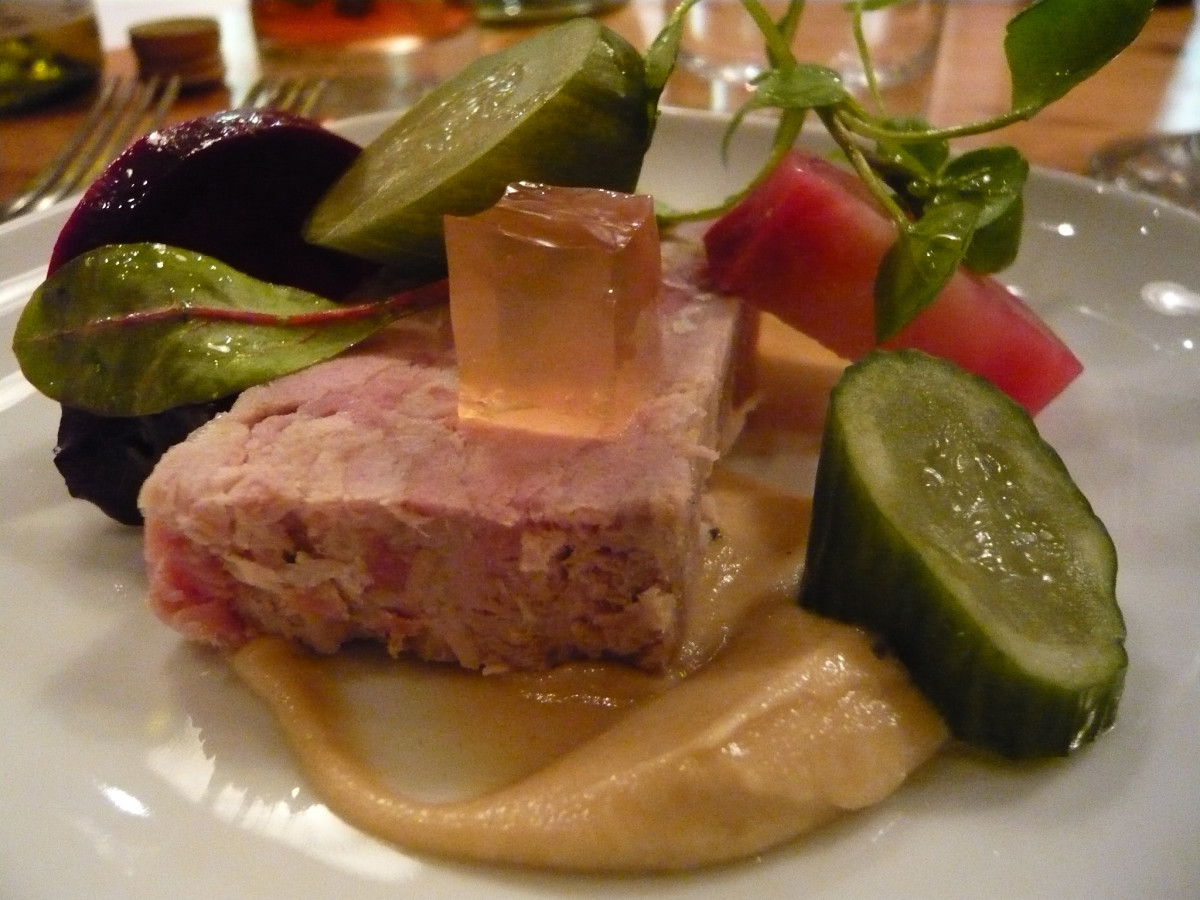 Pickles are favored condiments for chicken or pork terrines.
