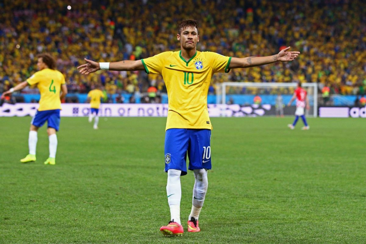 Neymar with Brazil