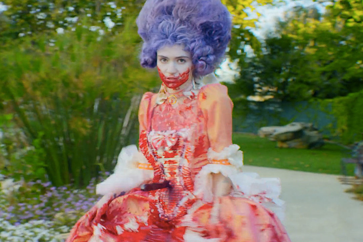 "The character Rococo Basilisk in the 2015 video ""Flesh without Blood/Life in the Vivid Dream"""
