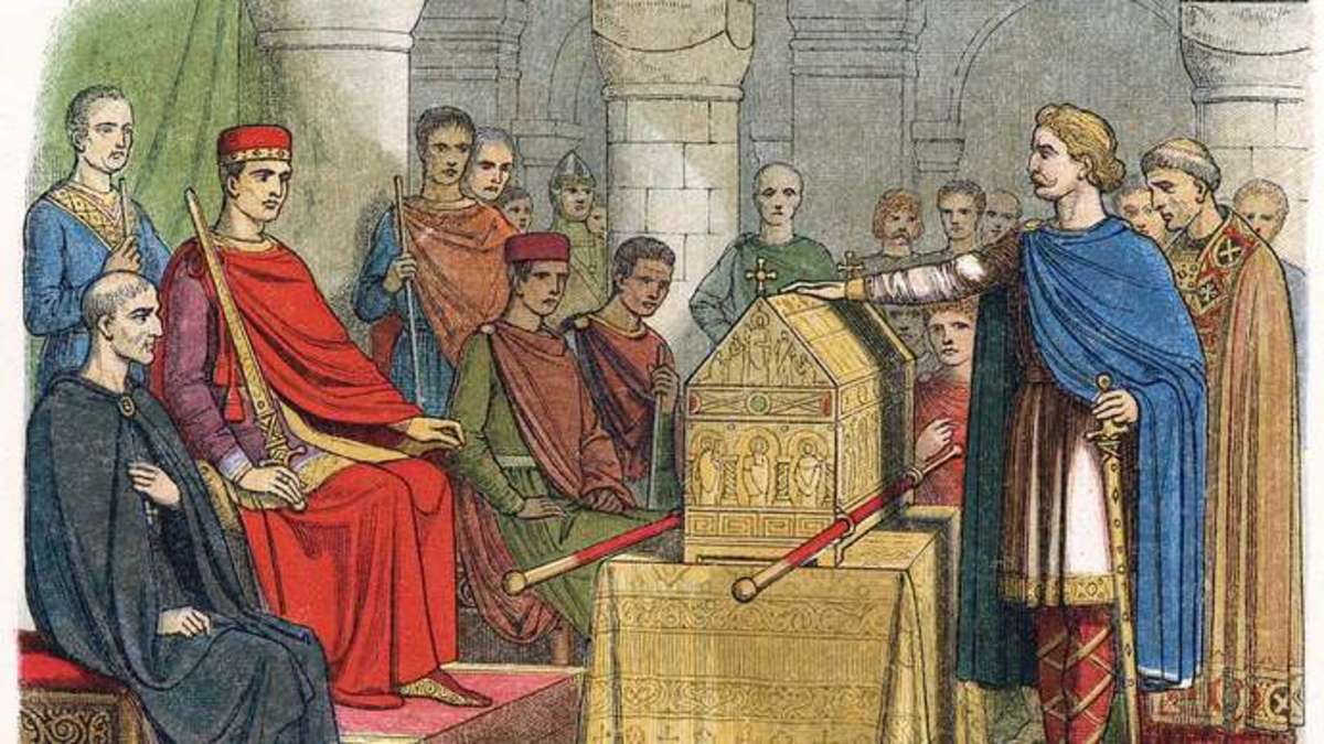 King Harold Swearing to Uphold Williams Claim to the Throne