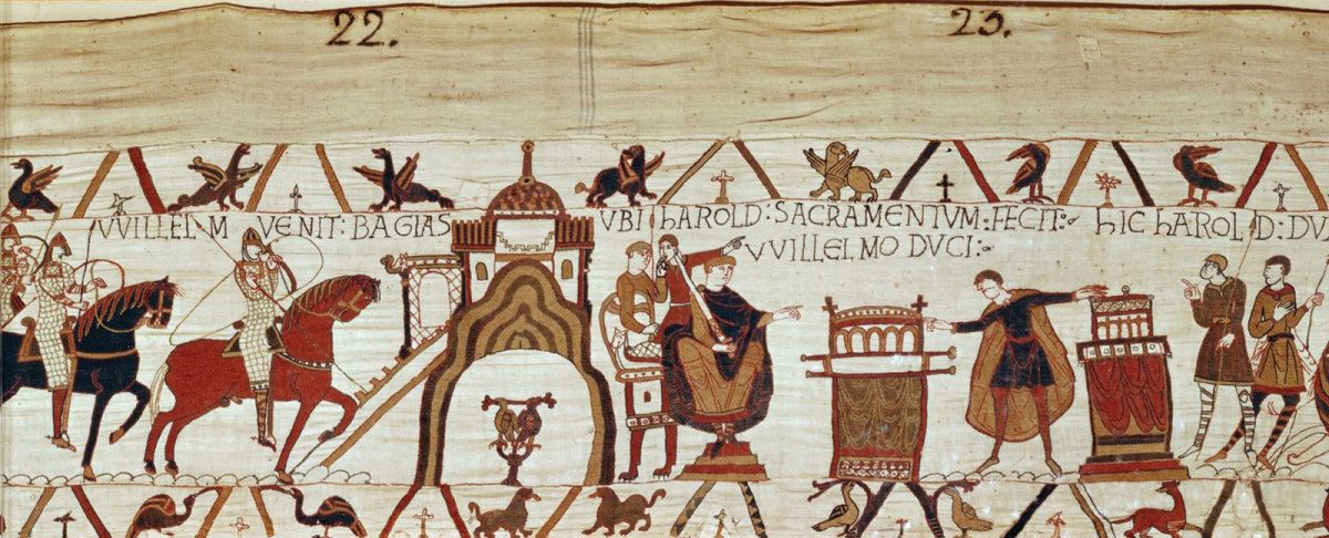 A scene from Bayeux Tapestry