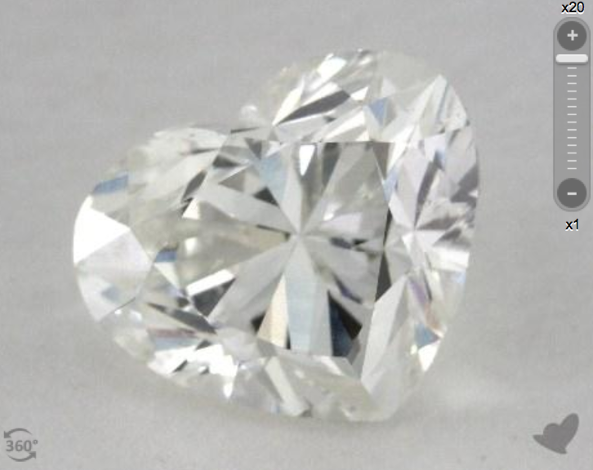 3 Carat Heart Shaped Diamond from James Allen