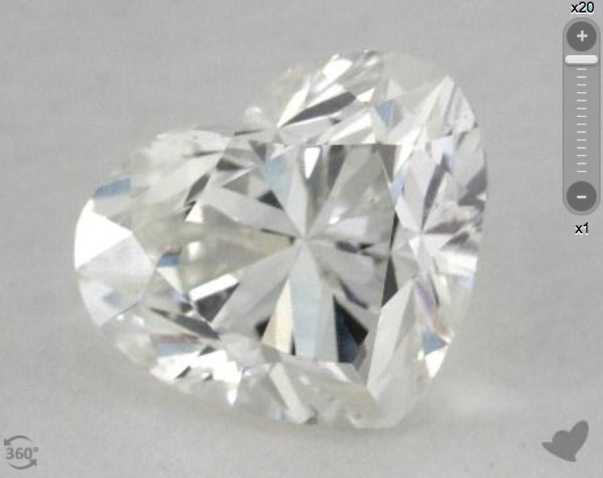 3 Carat Heart Shaped Diamond from James Allen