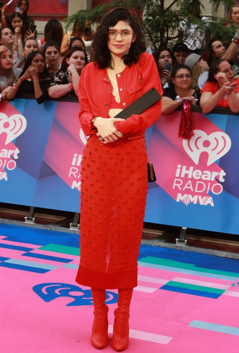 On the red carpet at the 2017 iHeartRadio Much Music Video Awards