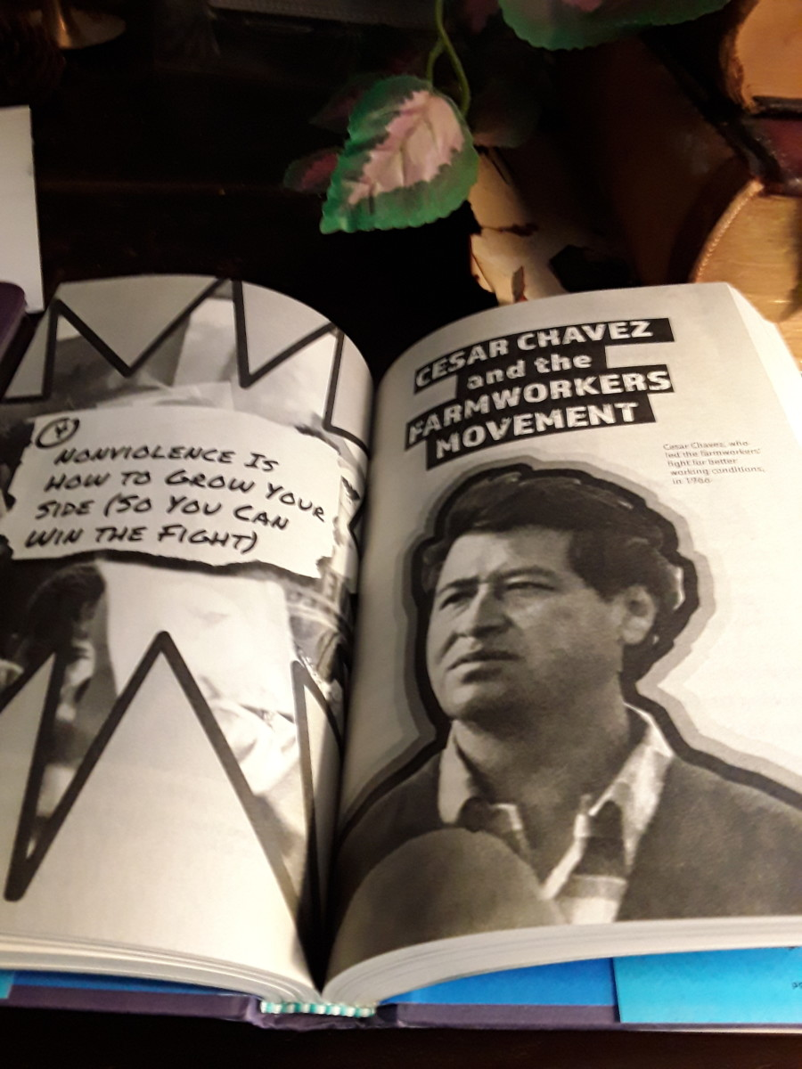 Cesar Chavez and his nonviolent movement for reforming treatment of farm workers