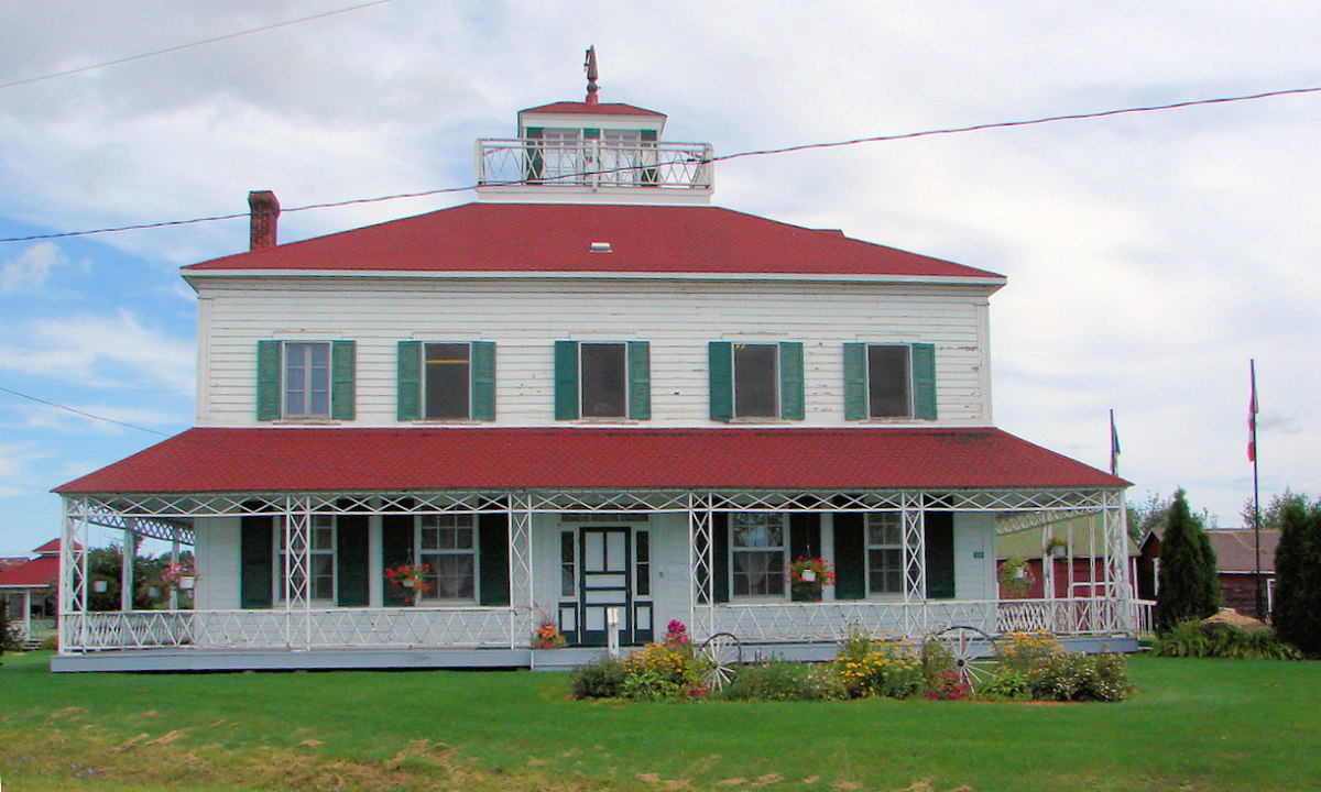The Bryson House, a historical site in Mansfield-et-Pontefract, Quebec, Canada