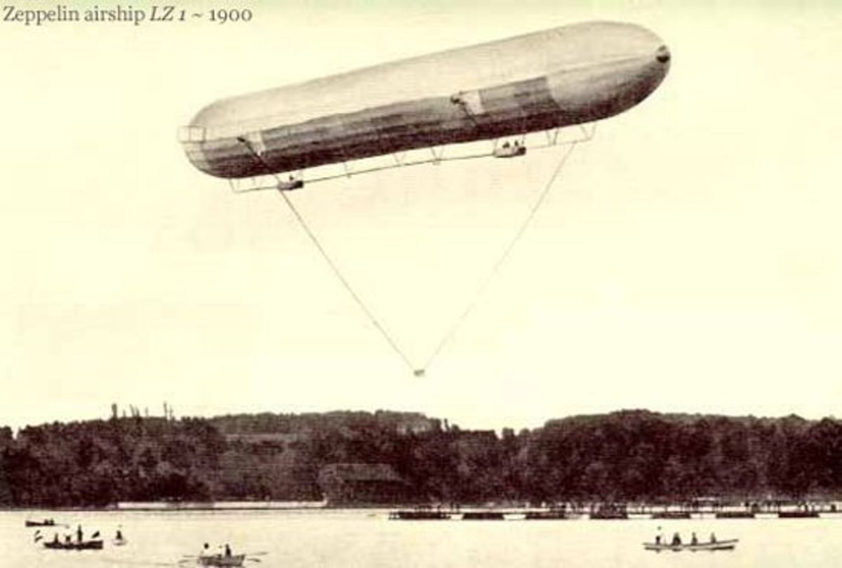 THE FIRST ZEPPELIN (LZ1) IN 1900