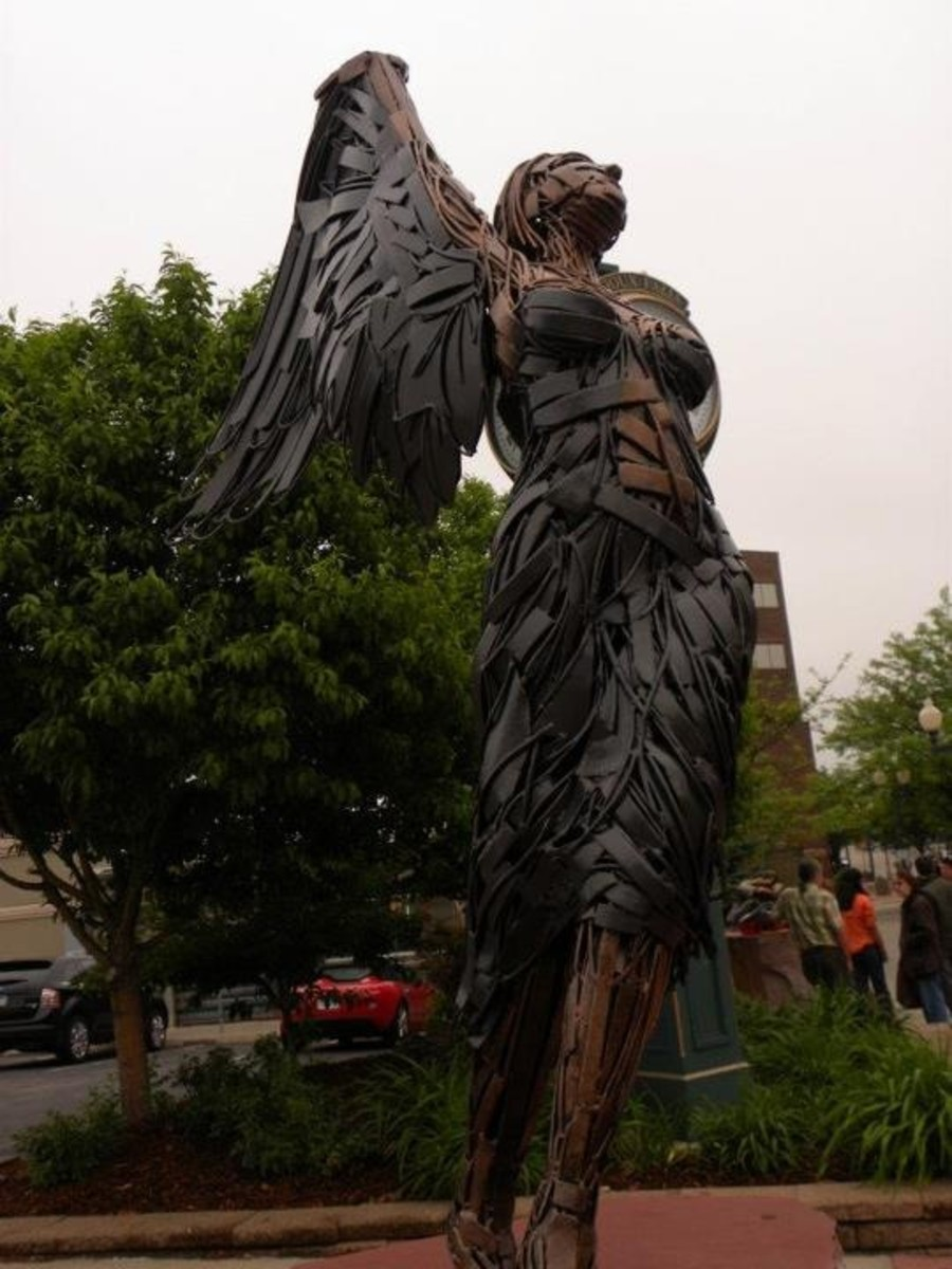 Mendez's art takes on a life of its own once it is complete.  People often state they see an angel in this sculpture.