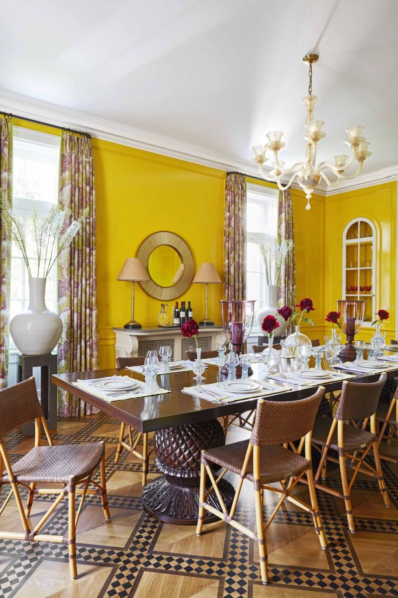It's surprise with the color yellow that it evokes energy, brightness and those warm sunshine. A makes it great for dining the room in your home.