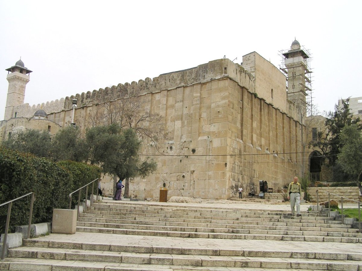 TOMB OF THE PATRIARCHS IN HEBRON, WEST BANK WHERE ABRAHAM, ISAAC AND ISRAEL (JACOB) ARE BURIED