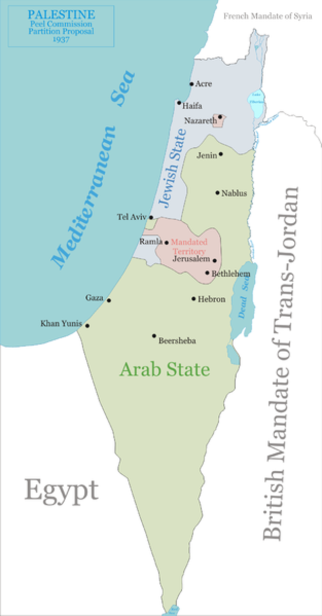 THE BRITISH PROPOSED THIS MINUSCULE BLUE STATE FOR ISRAEL TO THE ARABS IN 1937 AND EVEN IT WAS REJECTED