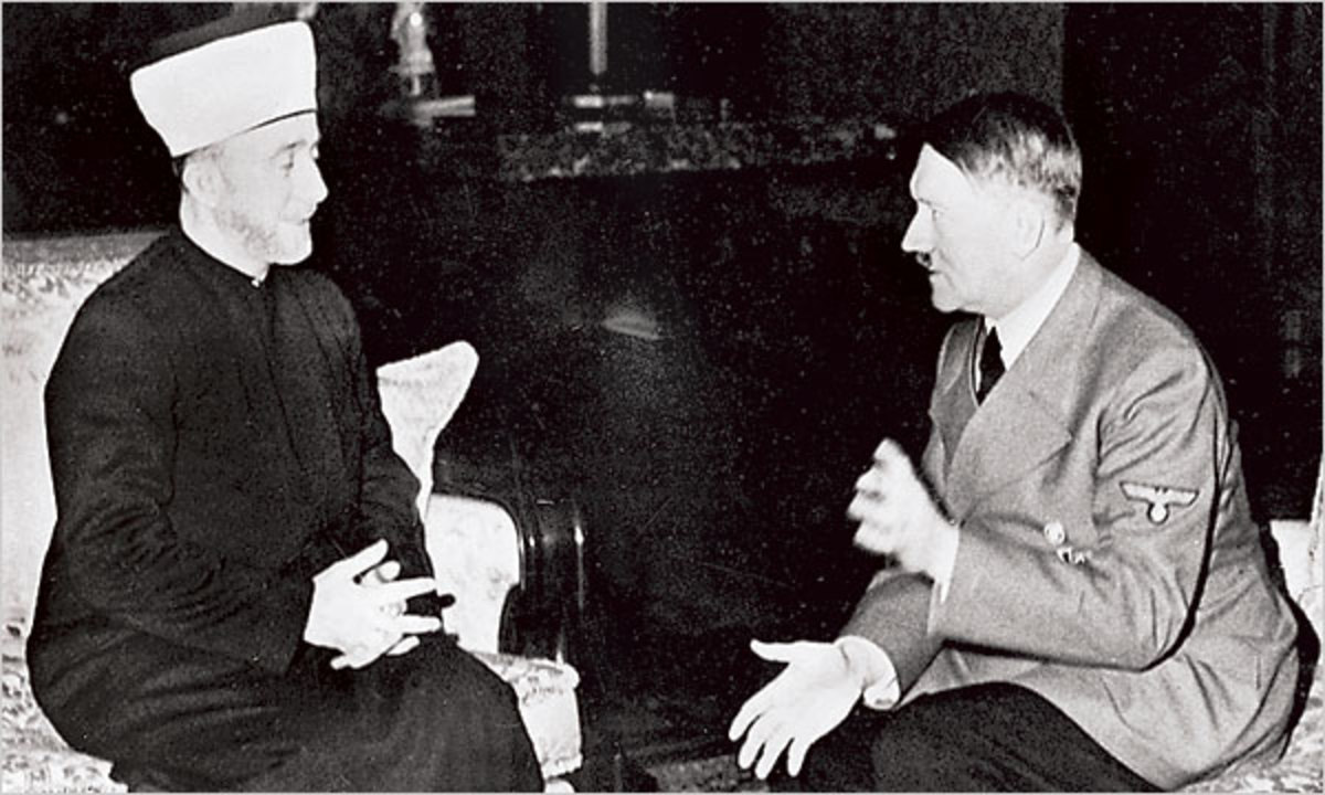MUSLIM GRAND MUFTI OF JERUSALEM WITH HIS BUDDY ADOLPH HITLER