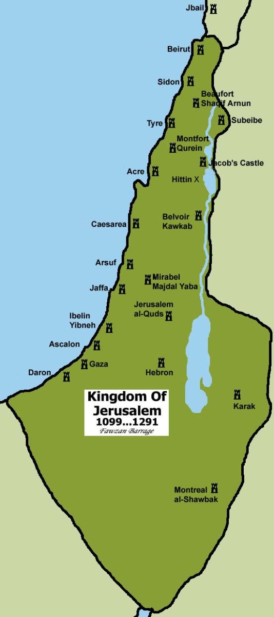KINGDOM OF JERUSALEM OF THE CHRISTIAN CRUSADERS