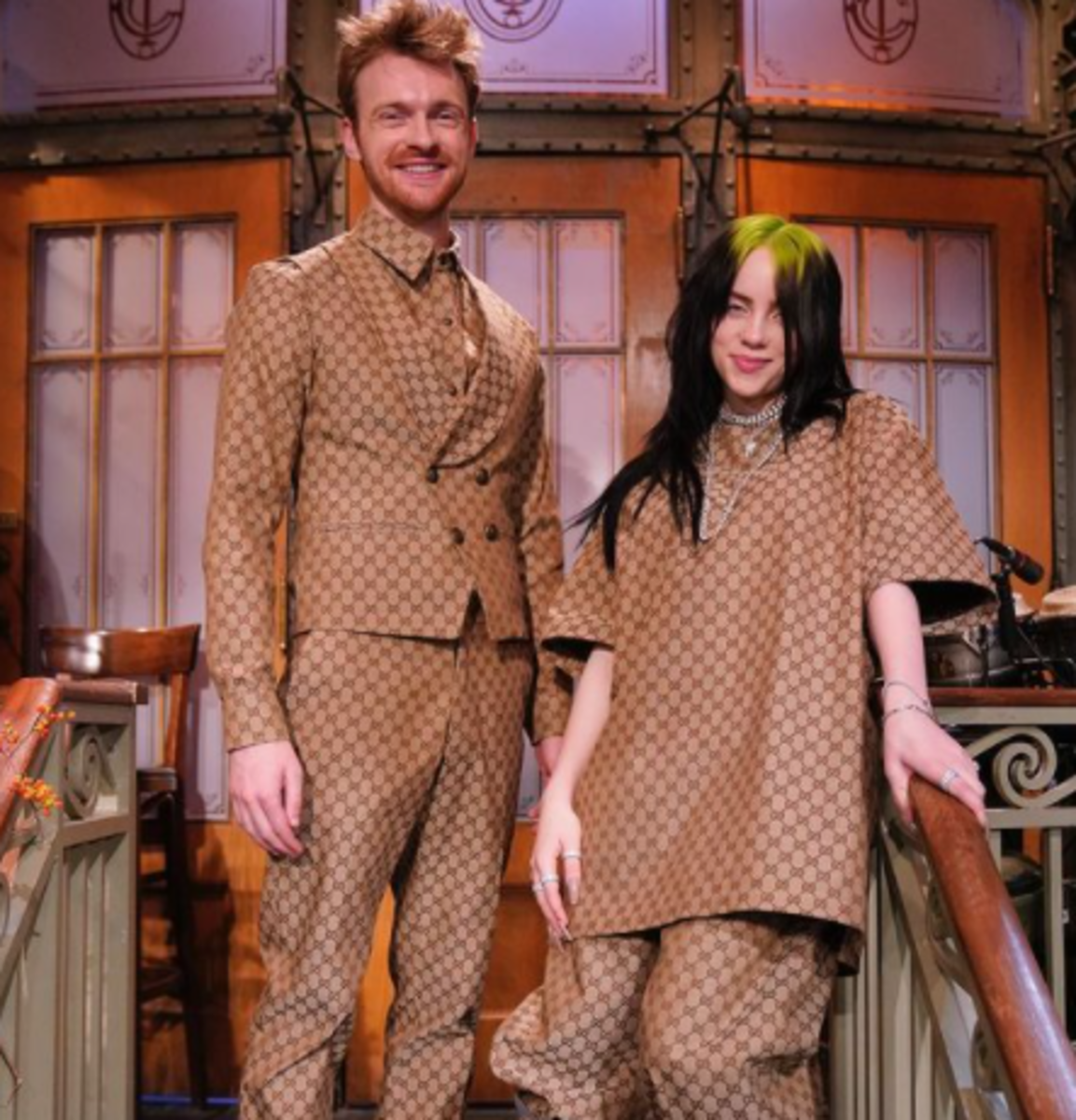 Finneas O'Connell and Billie Eilish
