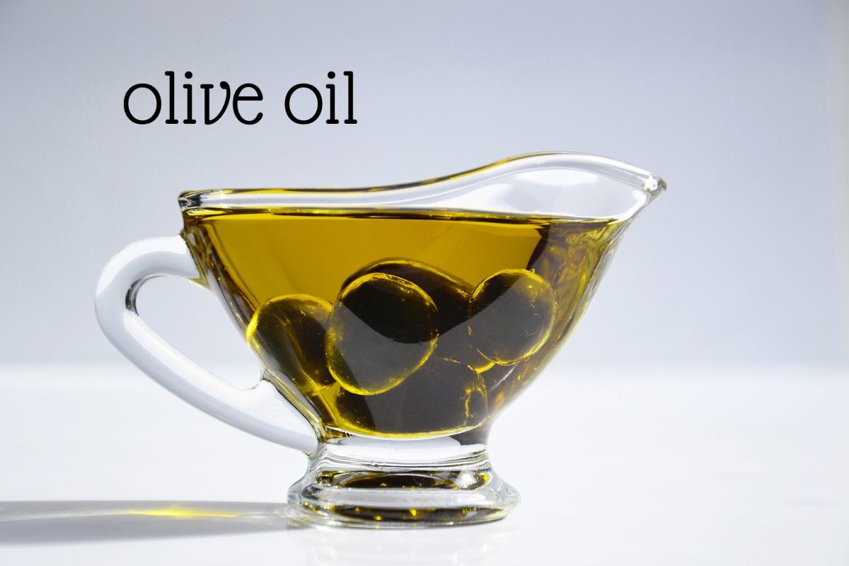 If the recipe calls for 1 cup butter, use 3/4 cup olive oil.