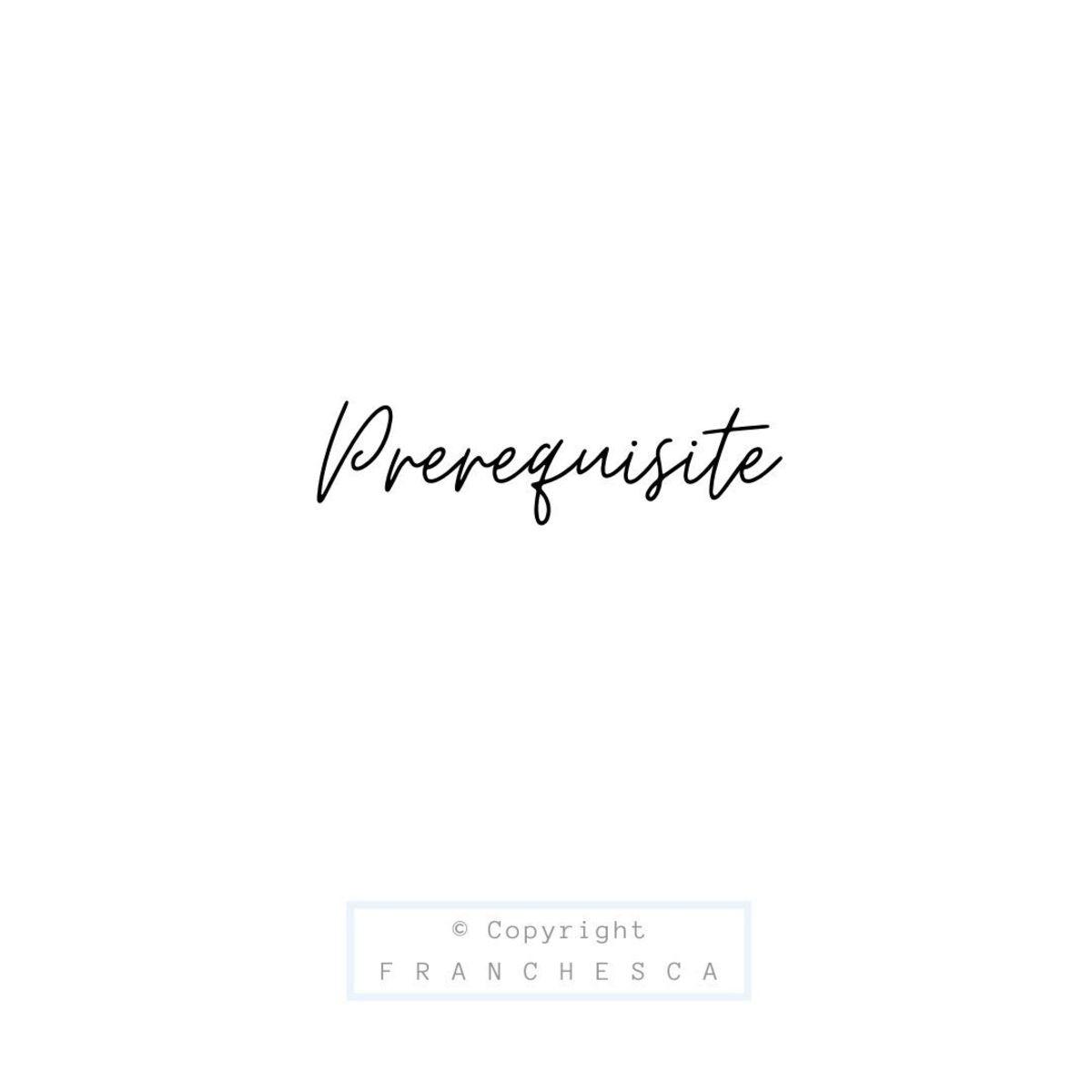 180th Article: Prerequisite