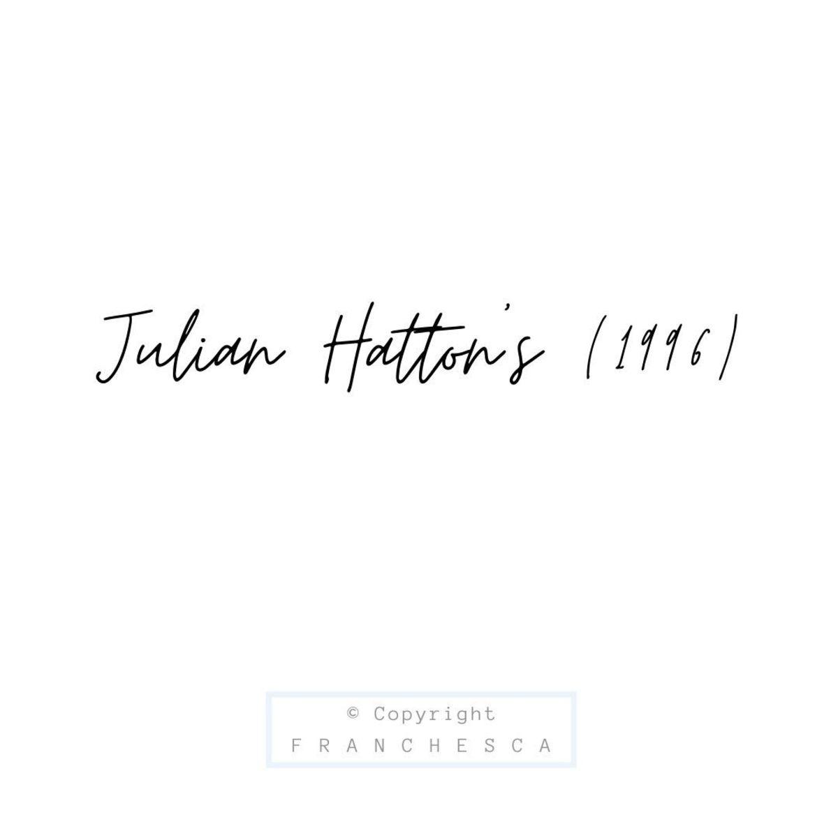 186th Article: Julian Hatton's (1996)