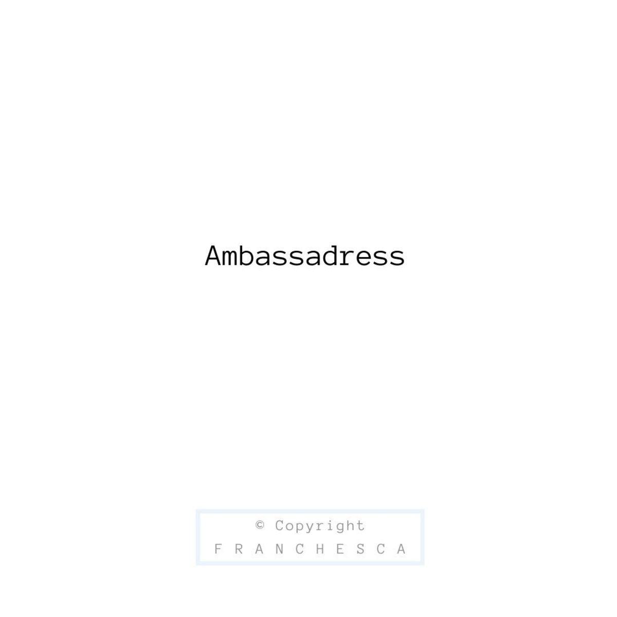 196th Article: Ambassadress