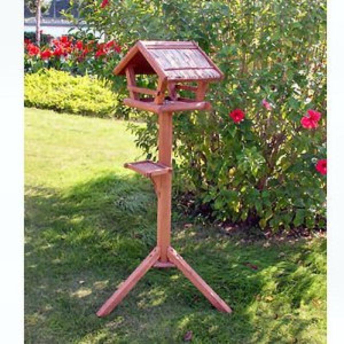 A bird table
