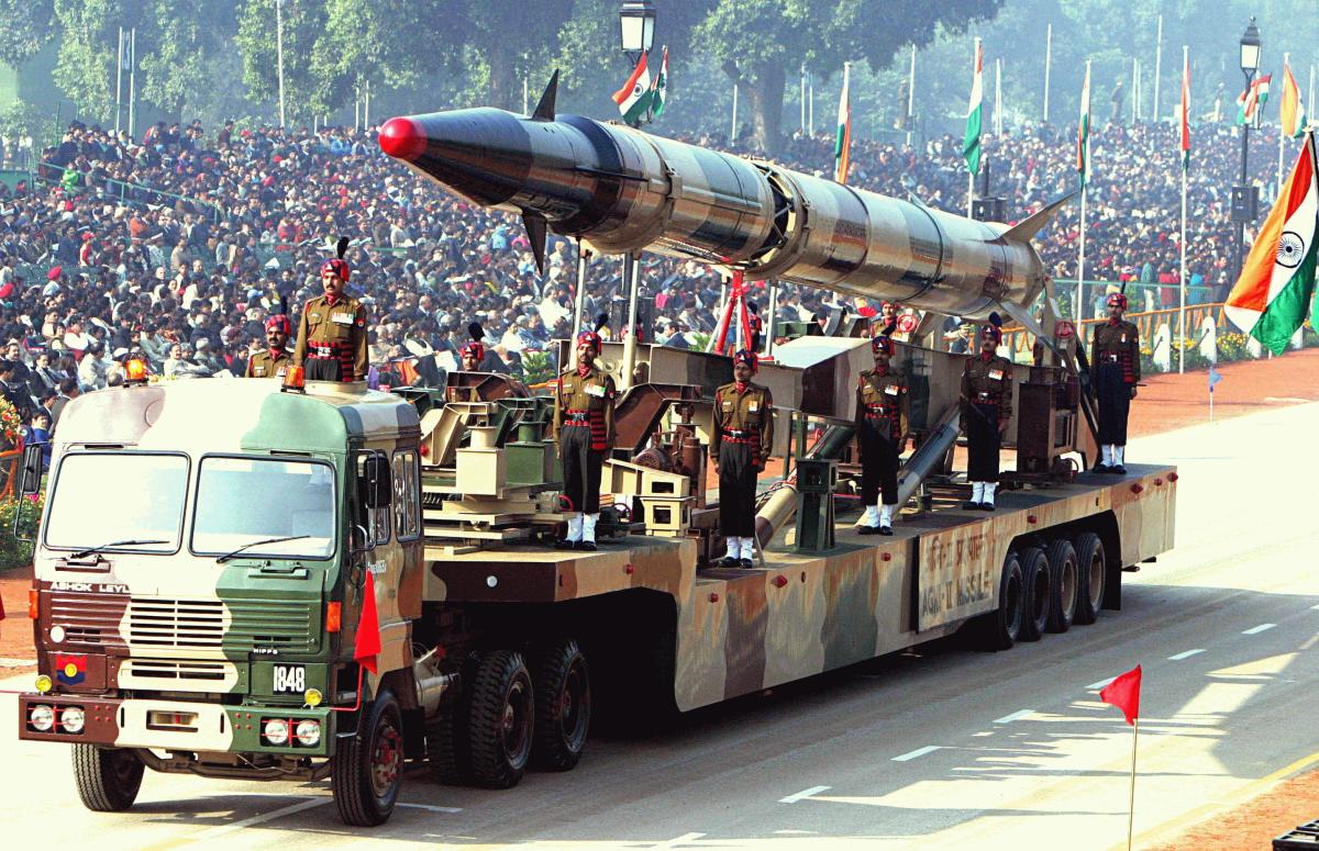 Agni-II missile Republic Day Parade