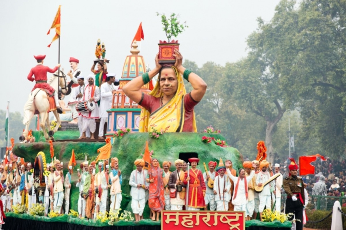 Float representing the state of Maharashtra at the 2015 Republic Day Parade