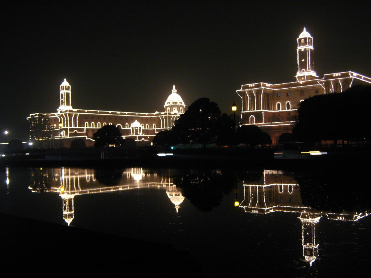 Rashtrapati Bhawan illuminated