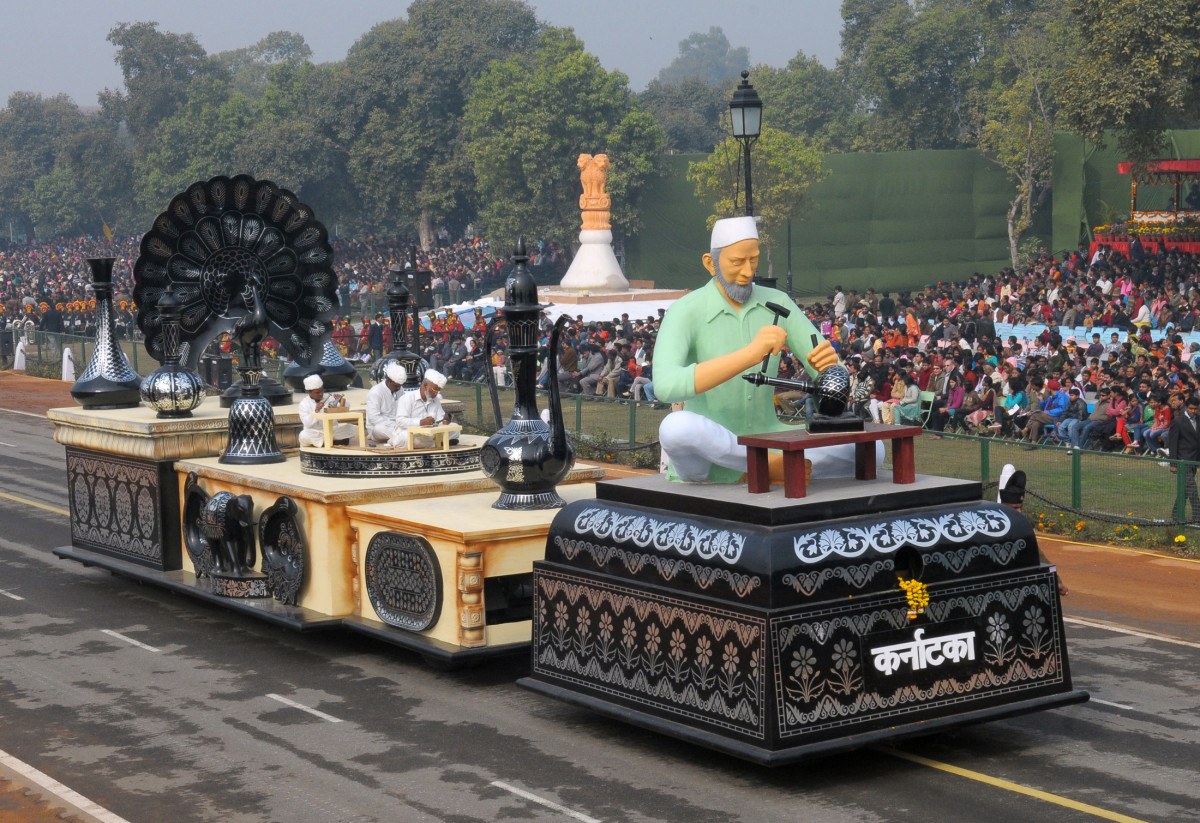 Bidriware Handicraft From Bidar - Karnatake State Tableau - Republic Day Parade 2011