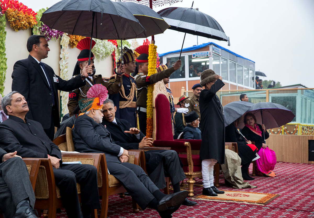 The President Taking The Republic Day Salute