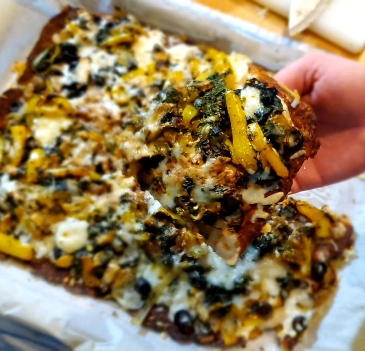 Finally! A cauliflower crust pizza you can actually hold in your hand!