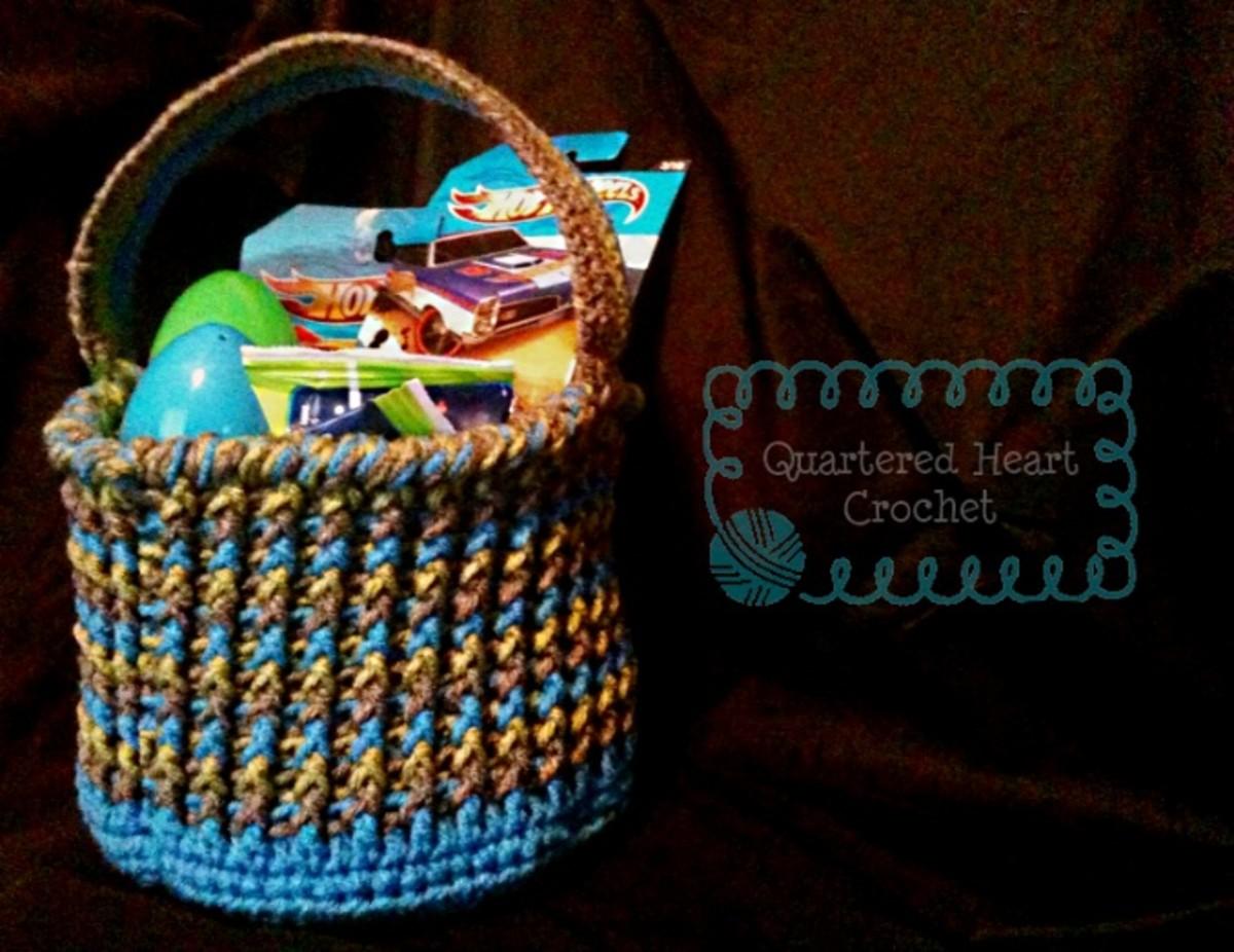 Free Crochet Pattern: Chunky Tots' Easter Basket Pattern