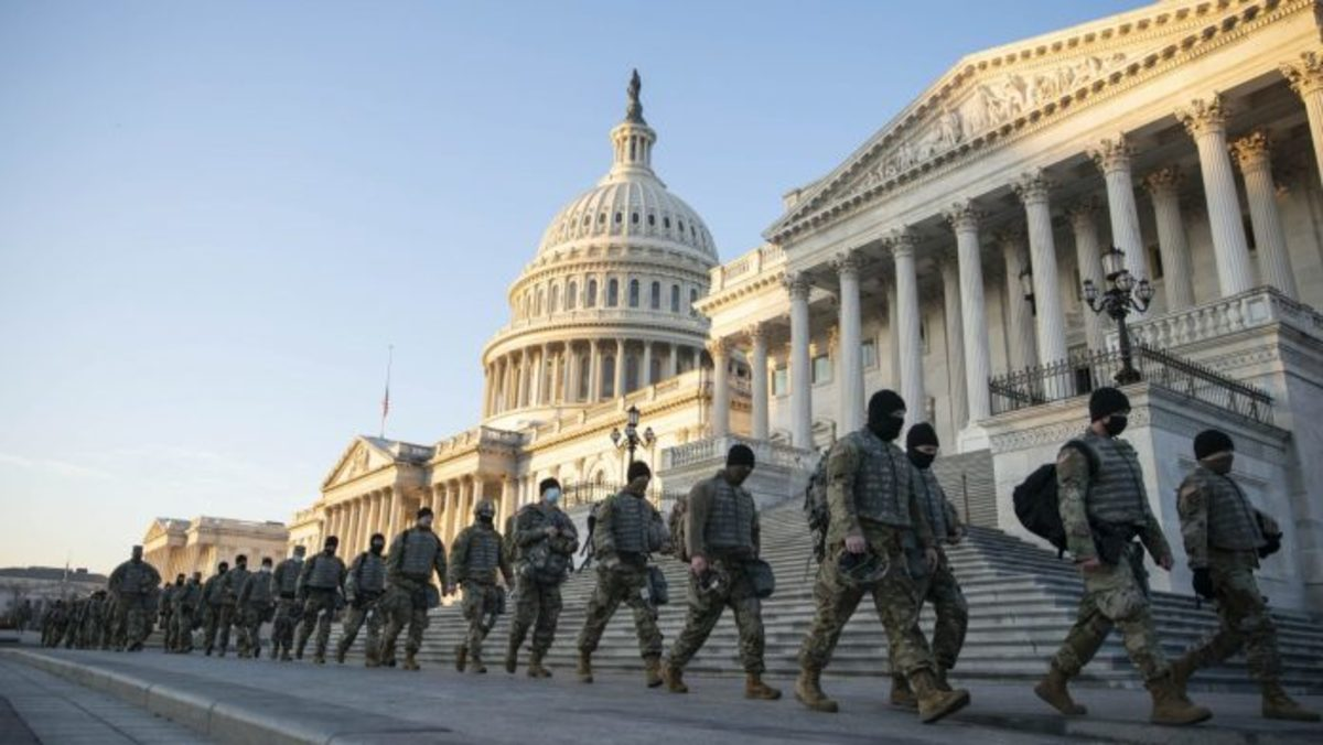 20,000 Military Personals in Capitol