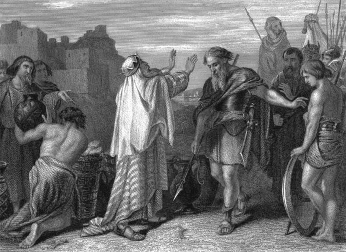 Abraham meets with Melchizedek