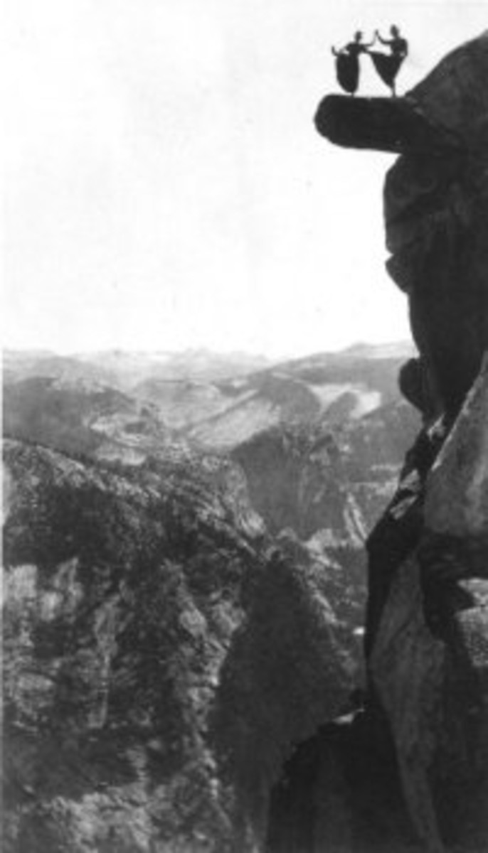 Dancing Ladies on Overhang in Yosemite