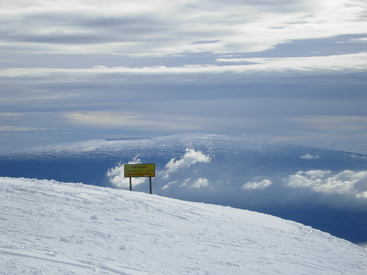 View of Mauna Loa from Mauna Kea.