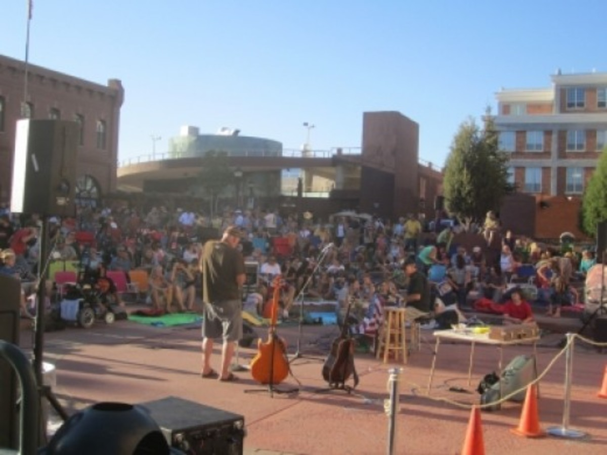 Live music in the Empress Amphitheater at Heritage Square