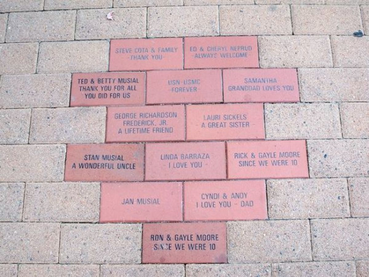 Commemorative bricks at Heritage Square